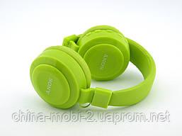 Sony MDR-XB100BT копія, Bluetooth навушники гарнітура c FM MP3, зелені, фото 3