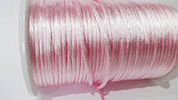 Шнур атласный корсетный (2,5 мм) светло-розовый