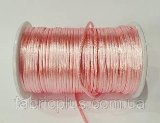 Шнур атласный корсетный (2,5 мм) розовый персик