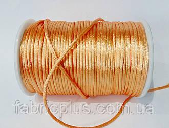 Шнур атласный корсетный (2,5 мм) насыщенный персик