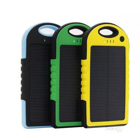 Влагозащищенный Solar Power Bank 10000 mAh на солнечной батарее 2 USB