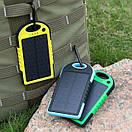 Влагозащищенный Solar Power Bank 10000 mAh на солнечной батарее 2 USB, фото 5