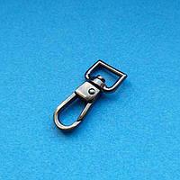 Карабин для брелка 10мм литой черный никель (квадратная петля)