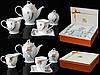 Набор чайный 15пр. 200мл микс2 золотой (Чайник 1100мл, чашка 200мл, молочник 320мл, сахарница 350мл ) Сваровск