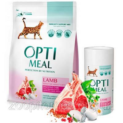 Optimeal (Оптимил) Корм для собак мелких пород гипоаллергенный с ягненком и рисом, 0,65 кг