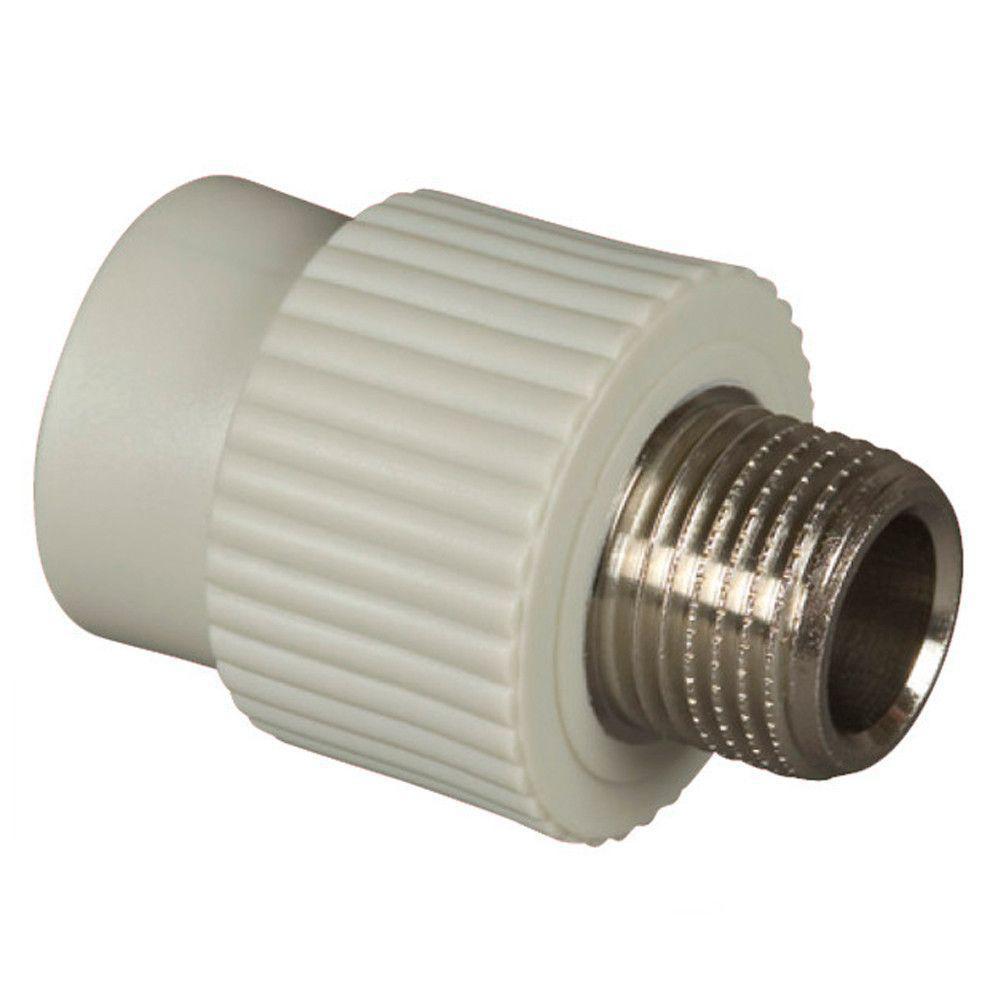Муфта резьба наружная 20*3/4 для пайки полипропиленовых труб PPR