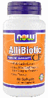 Аллибиотик, Now Foods, Allibiotic, 60 сaps