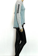 Свитер пуловер со съемным воротником, фото 3