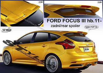 Спойлер козирьок на заднє скло, тюнінг Ford Focus Mk3