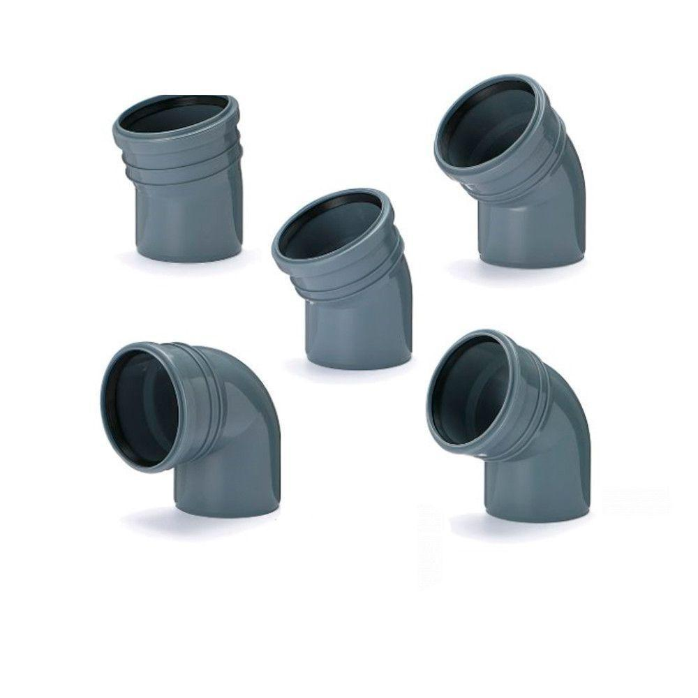 Колено (отвод) Инсталпласт 110/15° канализационное (Серое)