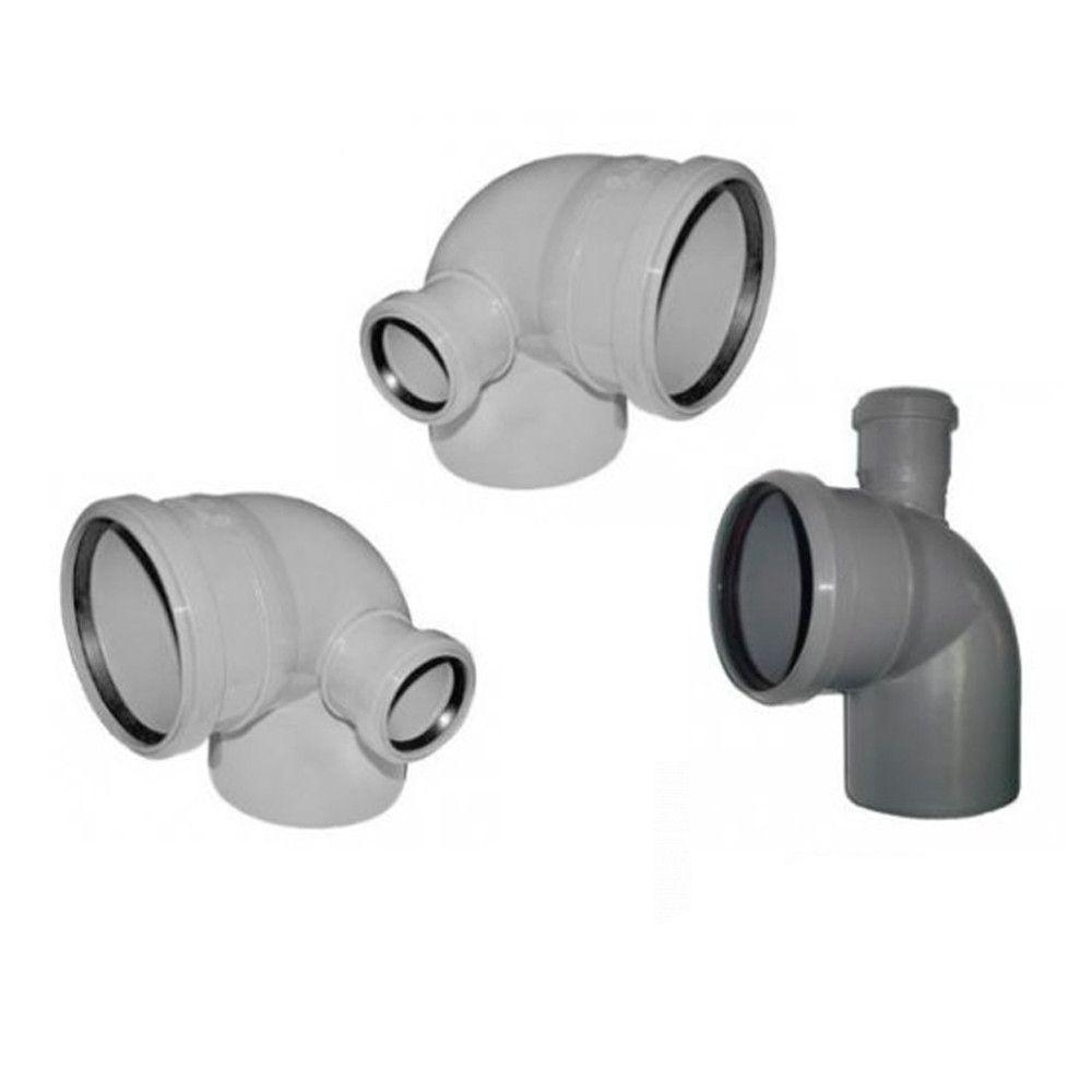 Колено (отвод) Инсталпласт 110/90 Регулир. канализационное (Серое)