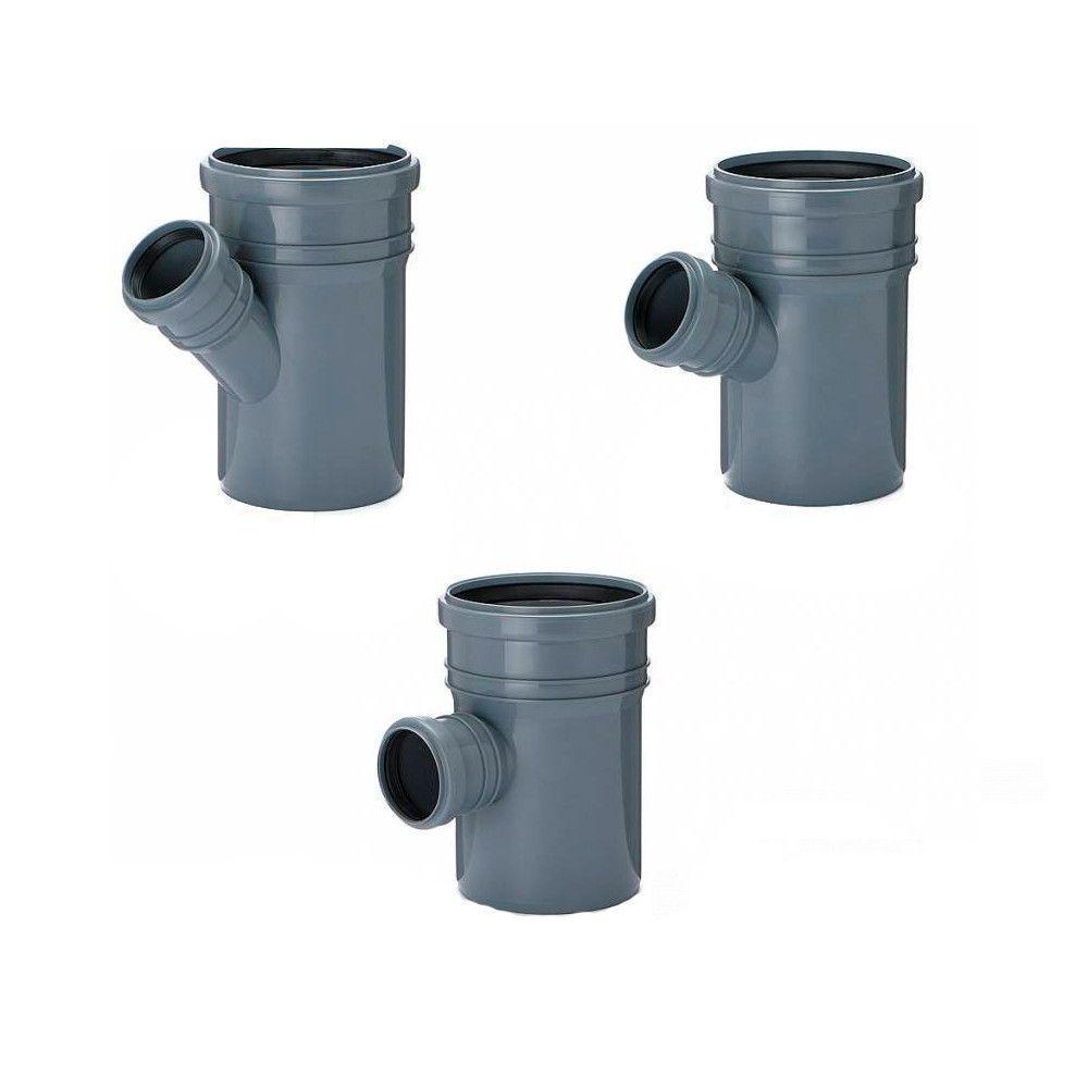 Тройник Инсталпласт 110x50 мм 90° канализационный