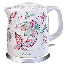 Электрический чайник Maestro MR-068 (Мозаика) Цветы