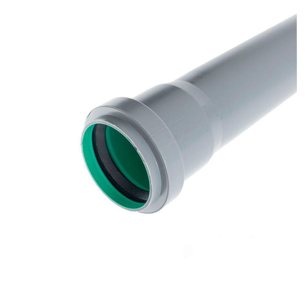 Труба Инсталпласт 110x2.7x4000 c раструбом внутренняя трехслойная (Зеленая)