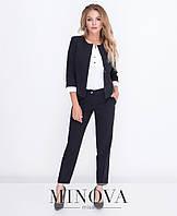 Строгий женский костюм пиджак и брюки от ТМ Минова раз. 42-48