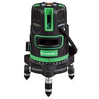 Зелёные лучи лазерный уровень Intertool MT-3008, 5 линий