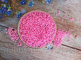 Жемчуг искусственный, 4 мм, цвет розовый, 10 грамм, (~340 шт).