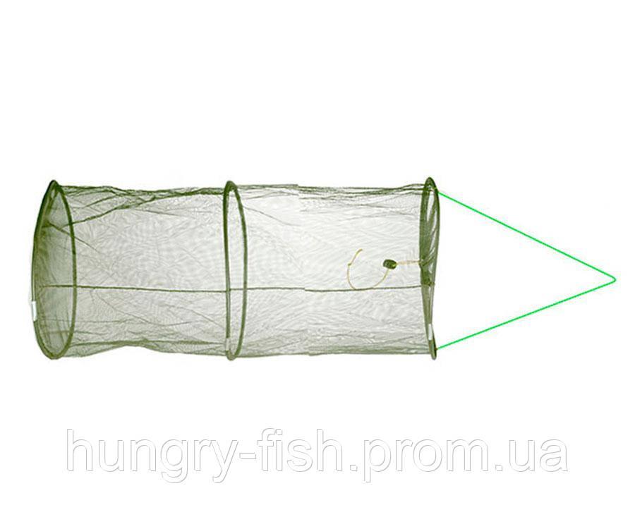 Садок Flagman Keepnet 2мм Green Mesh d30см 3 кільця