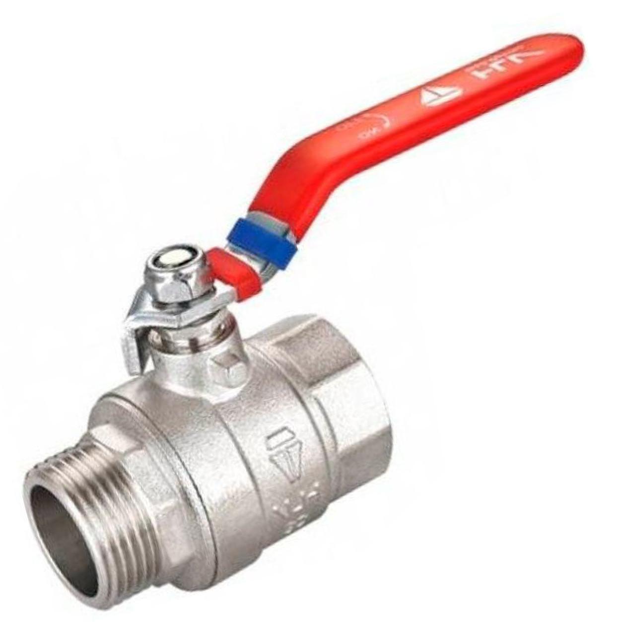 HLV optima кран шаровый PN40 1 1/2 ГШ ручка латунный