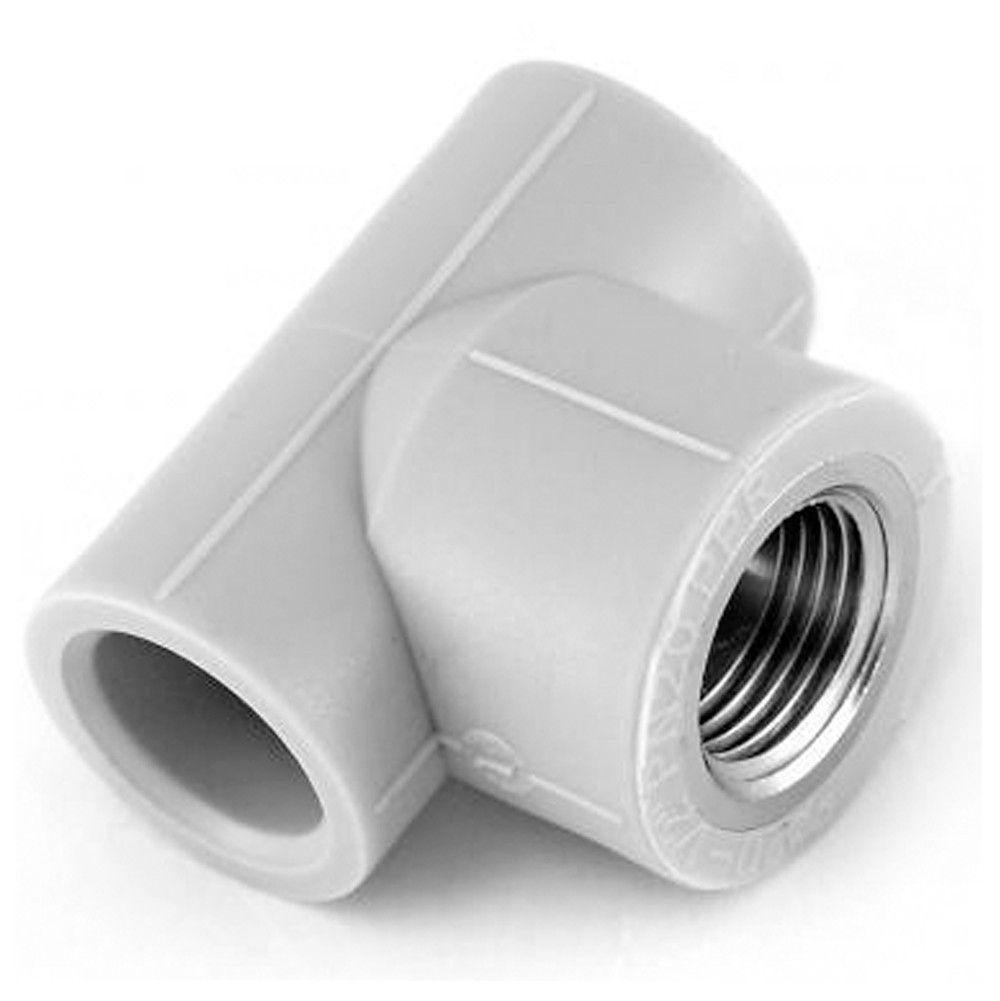 Тройник резьба внутренняя 25*3/4*25 для пайки полипропиленовых труб PPR