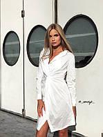 Ю1310 Женское платье -рубашка с перекрутом , фото 1