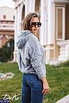 """Женский модный свитер с капюшоном """"Травка"""" от СтильноМодно, фото 2"""