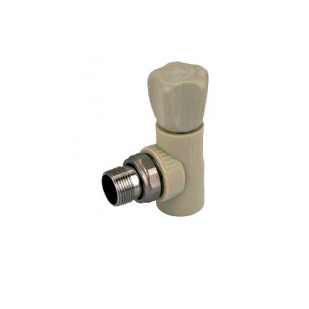 KOER кран радиаторный угловой 25x3/4  для пайки полипропиленовых труб PPR