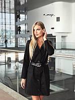 Ю1309 Платье-пиджак с поясом в комплекте, фото 1