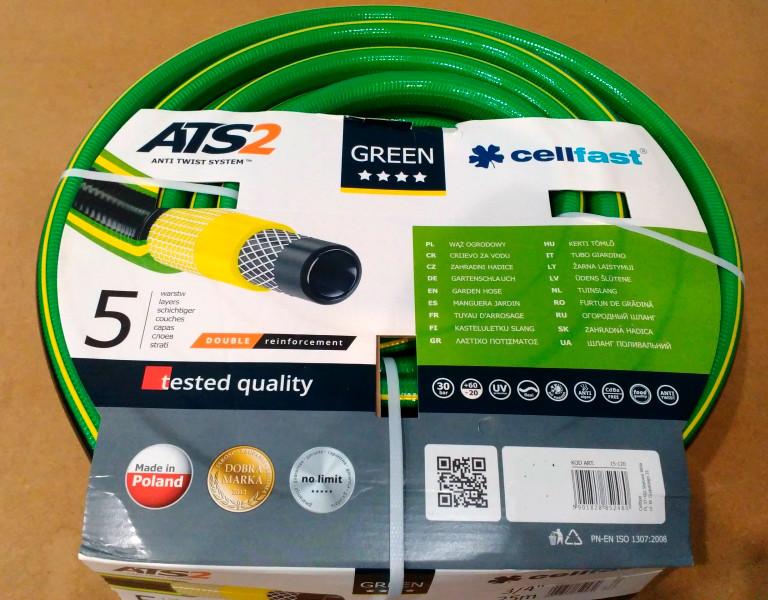 """Шланг поливочный """"Green"""" Cellfast (Польша) 5\8"""" (16mm) 50м."""