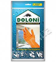 Перчатки хозяйственные латексные Doloni (L)