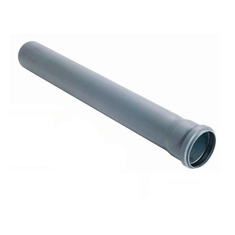 Труба Инсталпласт 110/1000 канализационная Внутренняя (Серая)