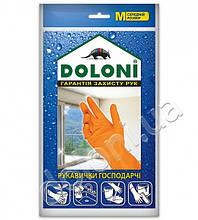 Перчатки хозяйственные латексные Doloni (М)