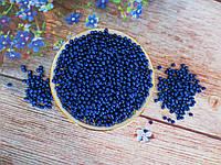 Жемчуг искусственный, 4 мм, цвет синий, 10 грамм, (~340 шт).