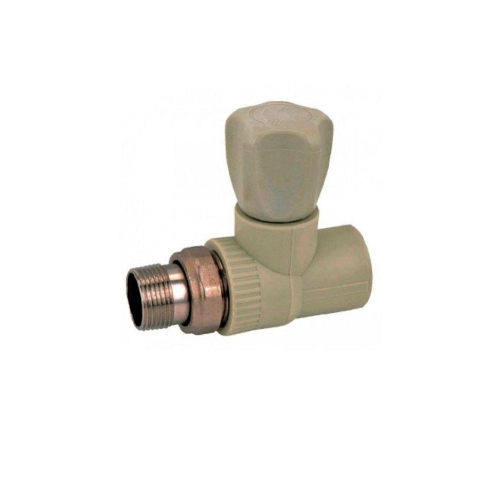 KOER кран радиаторный прямой 20x1/2  для пайки полипропиленовых труб PPR
