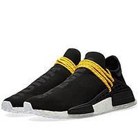 """Кроссовки мужские Adidas x Pharrell Williams Human Race NMD """"Черные с желтым"""" р. 41-45, фото 1"""