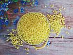 Штучний перли, 4 мм, колір жовтий, 10 грам, (~340 шт).