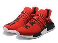 """Кроссовки мужские Adidas x Pharrell Williams Human Race NMD """"Красные"""" р. 41-45, фото 1"""