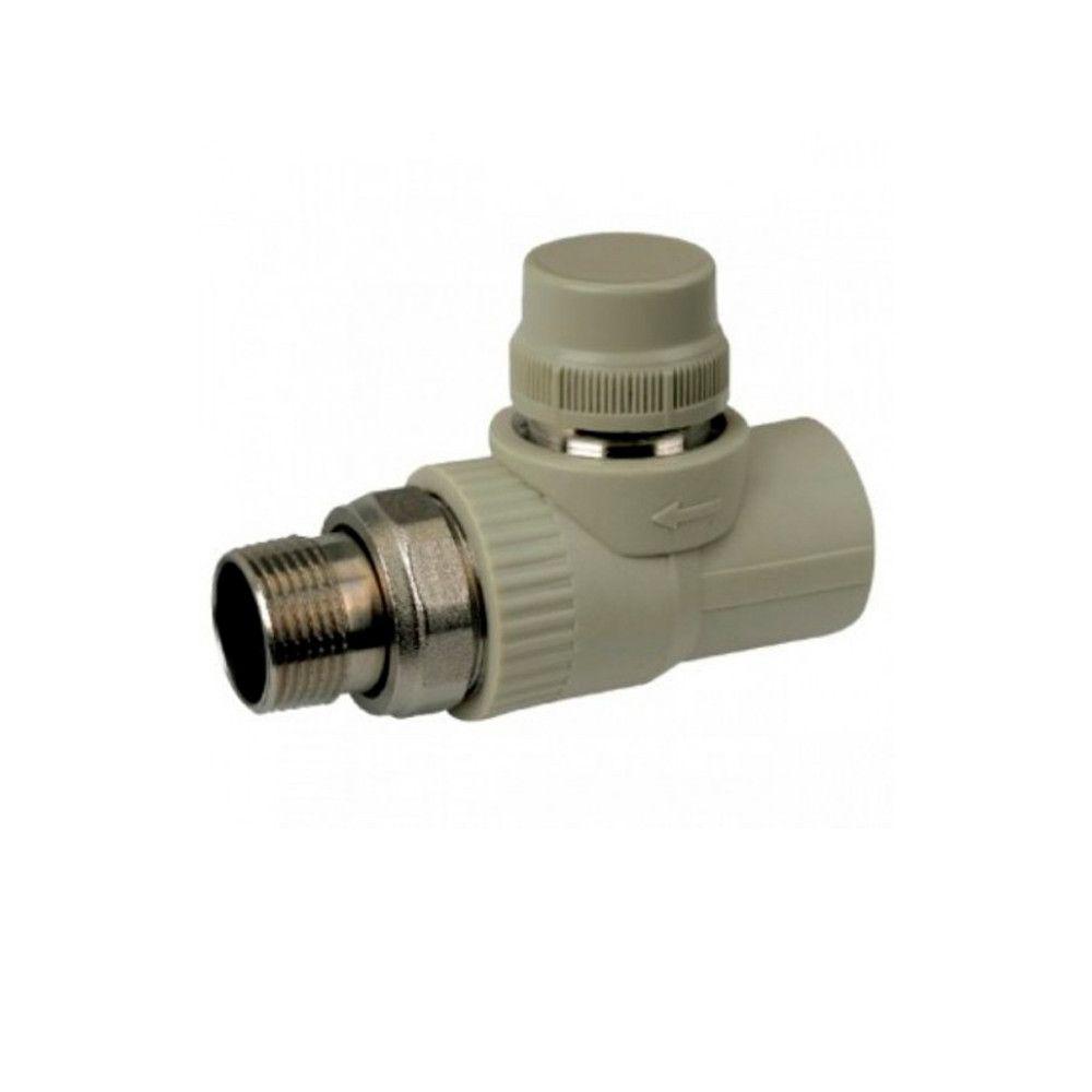 KOER кран термостатический прямой 20x1/2  для пайки полипропиленовых труб PPR