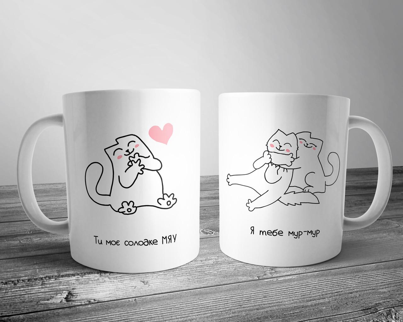Чашка с принтом Котик