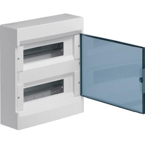 Щит накладной с прозрачной дверцей, 24 модуля, Hager Cosmos
