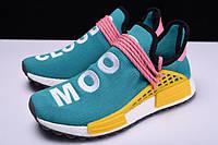 "Кроссовки мужские Adidas x Pharrell Williams Human Race NMD ""Бирюзовые с желтым"" р. 42-43"