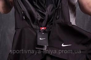 Мужской Анорак (ветровка) черный Nike реплика, фото 2