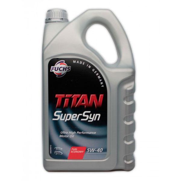 Моторное масло Fuchs Titan SuperSyn 5W-40 5L (600930820)