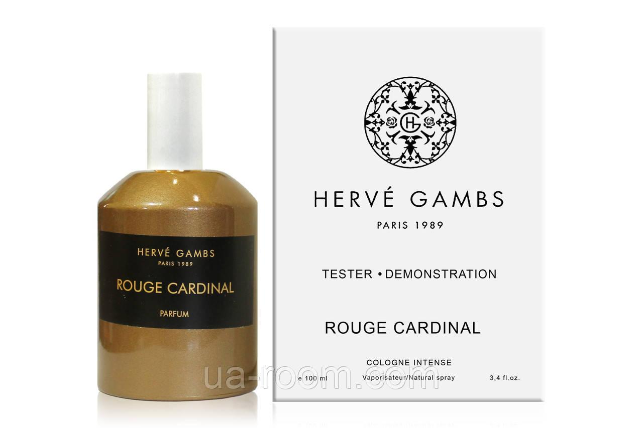 Унисекс, Тестер Herve Gambs Paris Rouge Cardinal, 100 мл