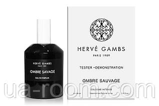 Унисекс, Тестер Herve Gambs Paris Ombre Sauvage, 100 мл