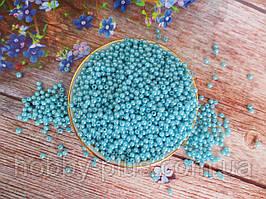 Жемчуг искусственный, 4 мм, цвет голубой, 10 грамм, (~340 шт.).
