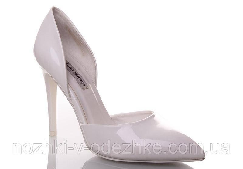 5e7a87dfa566 Свадебные классические белые лаковые туфли лодочки на высокой шпильке 35 36  37 38 39
