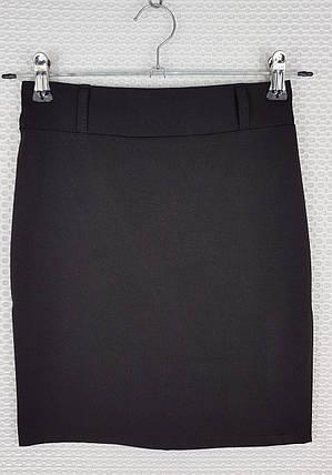 Классическая школьная юбка карандаш черная  р 140-164, фото 2