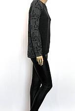 жіночий модний сірий светр , фото 2