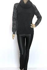 жіночий модний сірий светр , фото 3